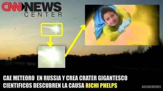 richie phelps, la causa del meteorito en rusia